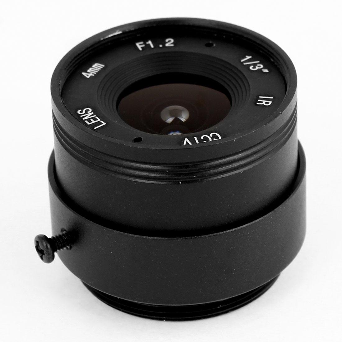 CCTV Box Camera Fixed 4mm Focus Length IR Board Lens F1.2
