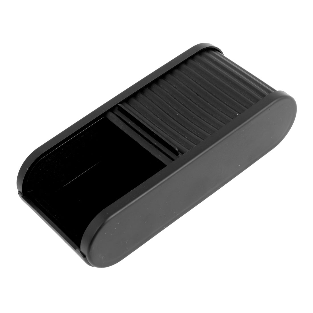 Black Plastic Pocket Telescopic Door Coins Case Car Storage Box Holder