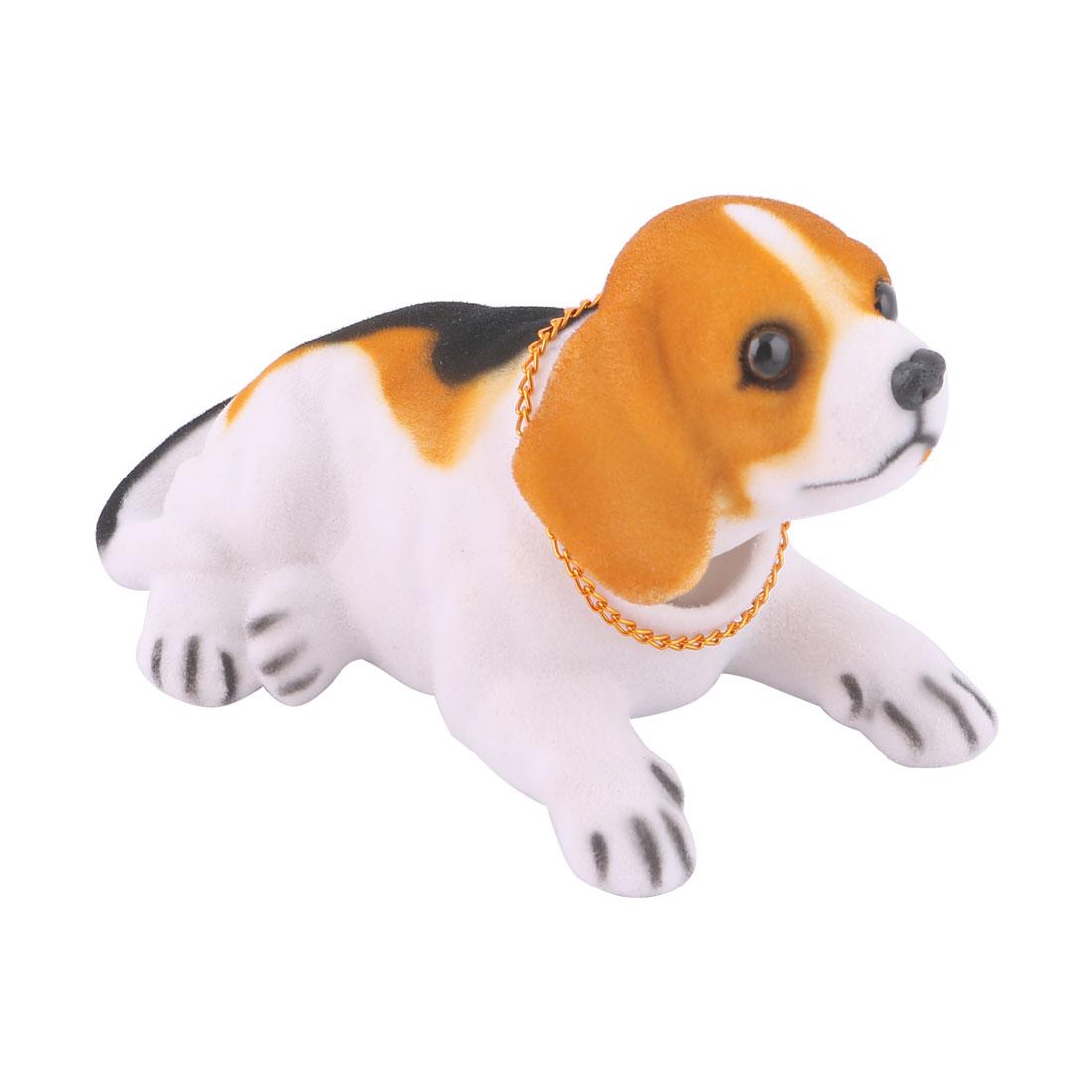Car Decoration Bobbing Head Beagle Design Nodding Dog Black White Brown