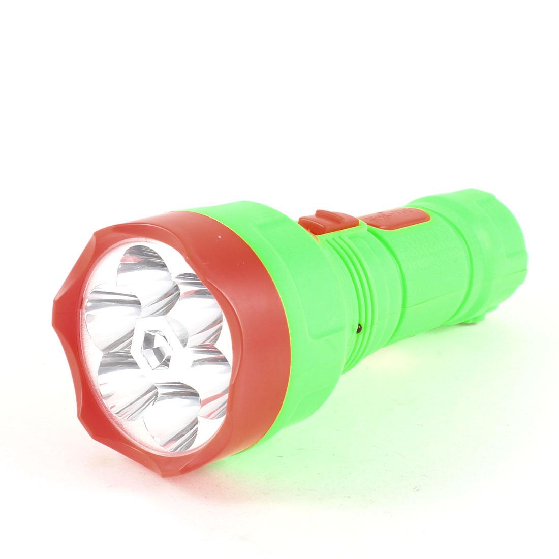 US Plug White Light 7 LED Lighting Rechargeable Flashlight Torch AC 110V-220V