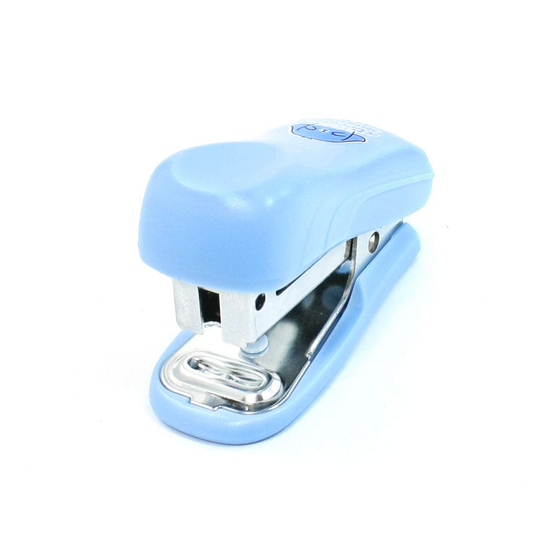 Personal Light Blue Plastic Shell 24/6 Staple Stapler Set