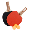 Black Red Ping Pong Paddle Recreational Table Tennis Racket w Balls