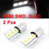 2Pcs BA9S 5050 SMD 3 White LED Car Error Free Canbus Light Spare Bulb