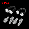 2 Pcs Swim Swimming Clear Black Nose Clip Flexible Clear Ear Plugs Set