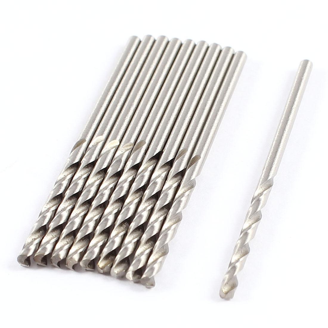 10 Pcs 1.6mm x 21mm x 43mm Flute Metal Marble HSS Twist Drilling Drill Bits