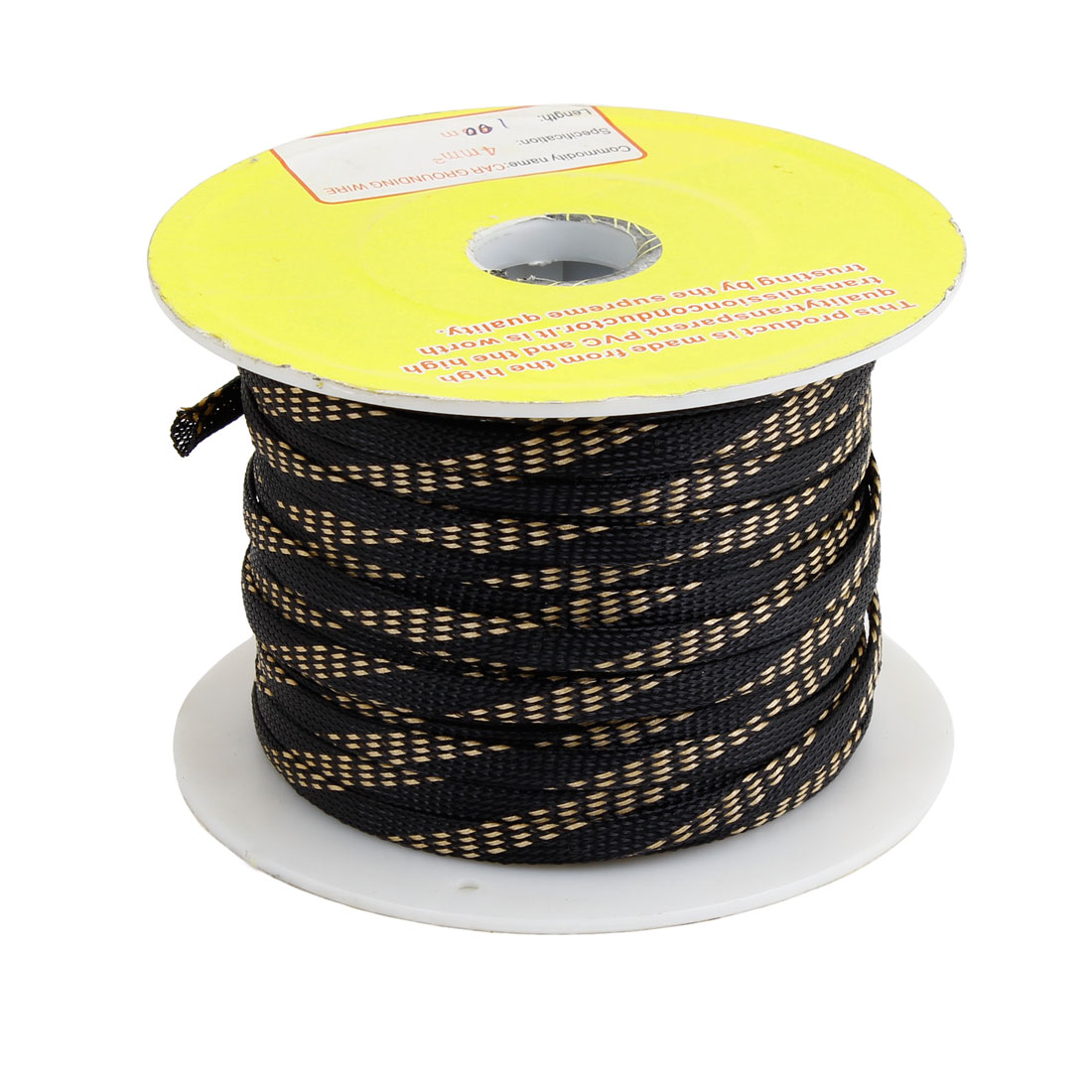 Black PVC Expandable Braided Flex Sleeve Wire Harness Flexable Cover 100M Long