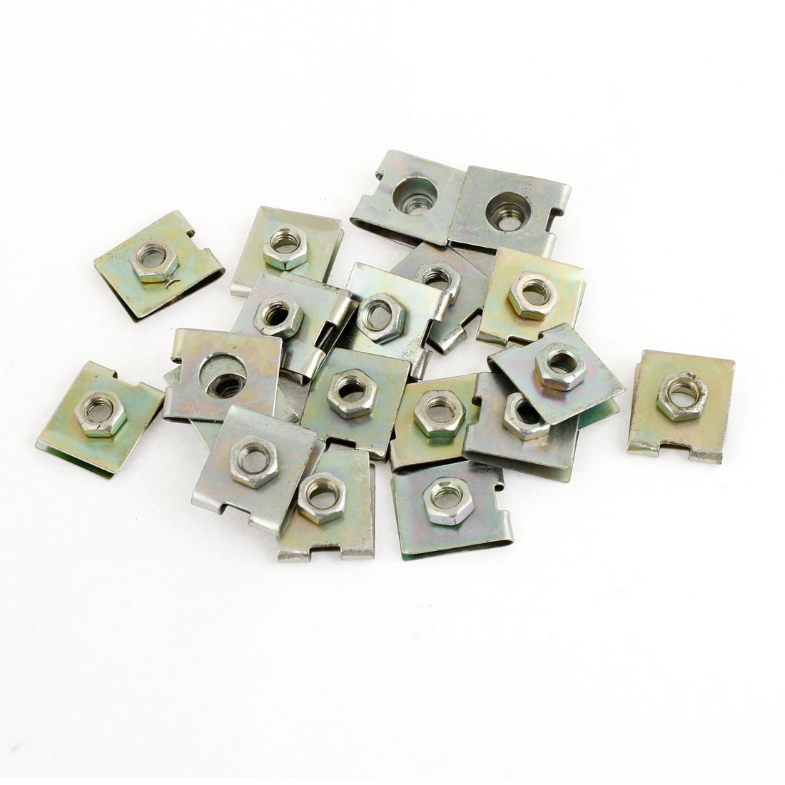 20pcs Spring Metal Plate U-Type Clips Speed Nuts M6 for Car Panel Fender