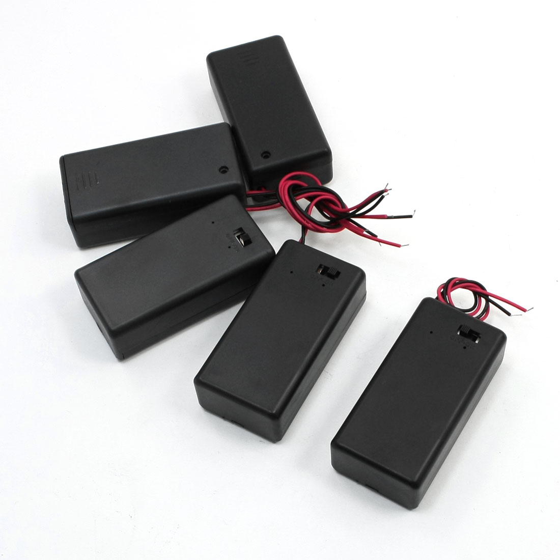 "5PCS ON/OFF Switch 5.5"" Leads Battery Holder Box Case for 9V Batteries"