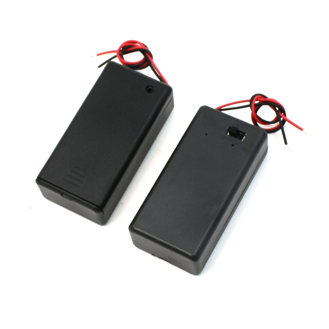 Pair 9V Battery Holder Storage Case ON/OFF Switch w Cap 2 Pcs