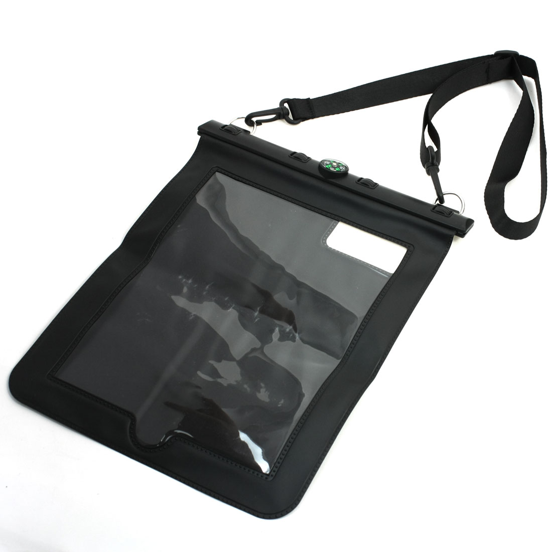 Compass Water Proof Protector Case Cover Black w Neck Strap for iPad 2 3 4