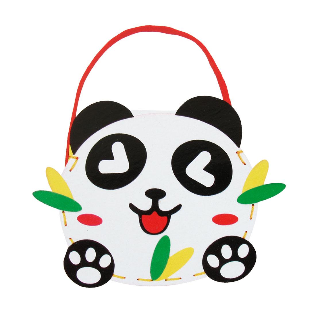 Cartoon Panda Shape Craft Foam Bag DIY Hands Bag Educational Toy