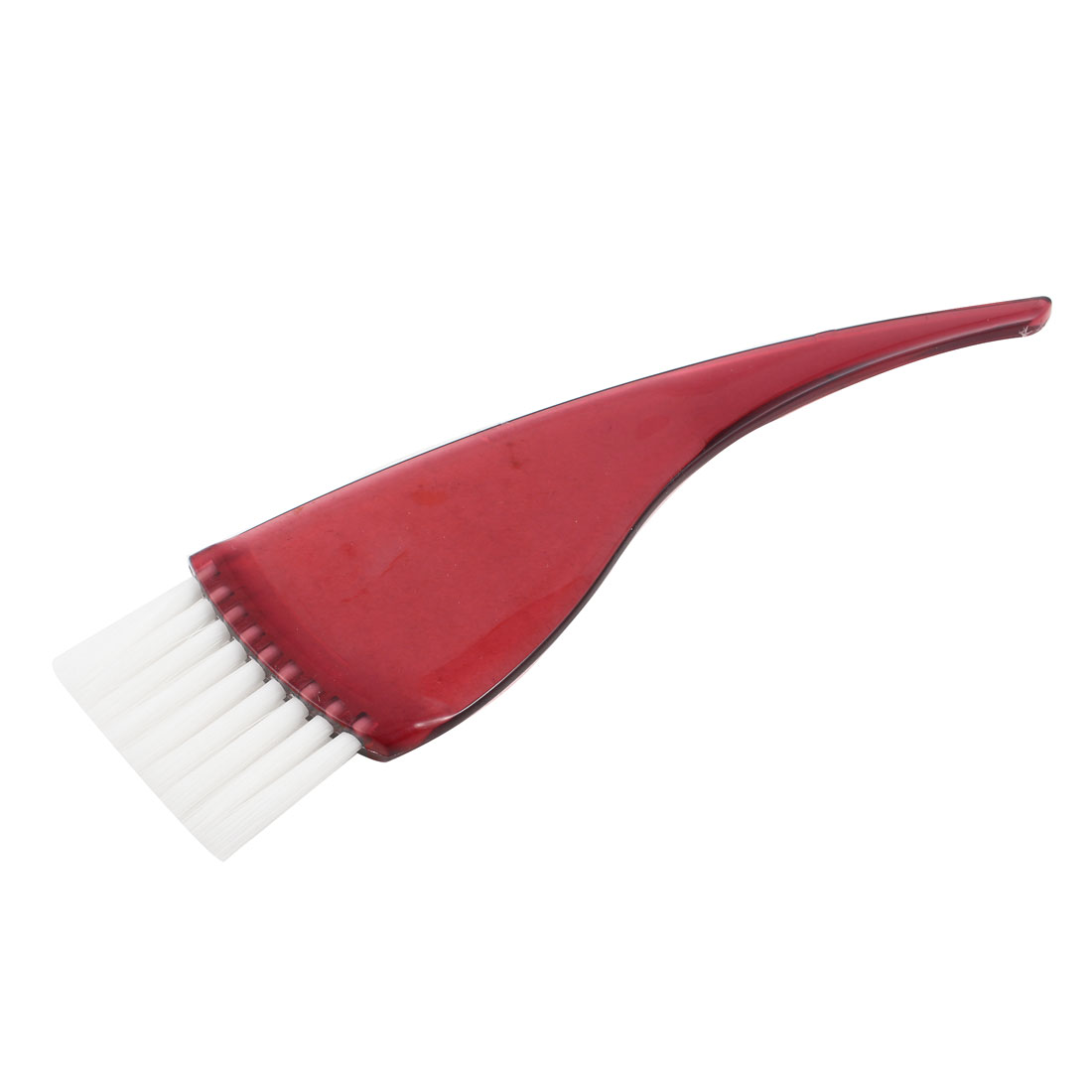 Clear Red Bend Handle Salon Hair Coloring Dye Tinted Bleach Brush