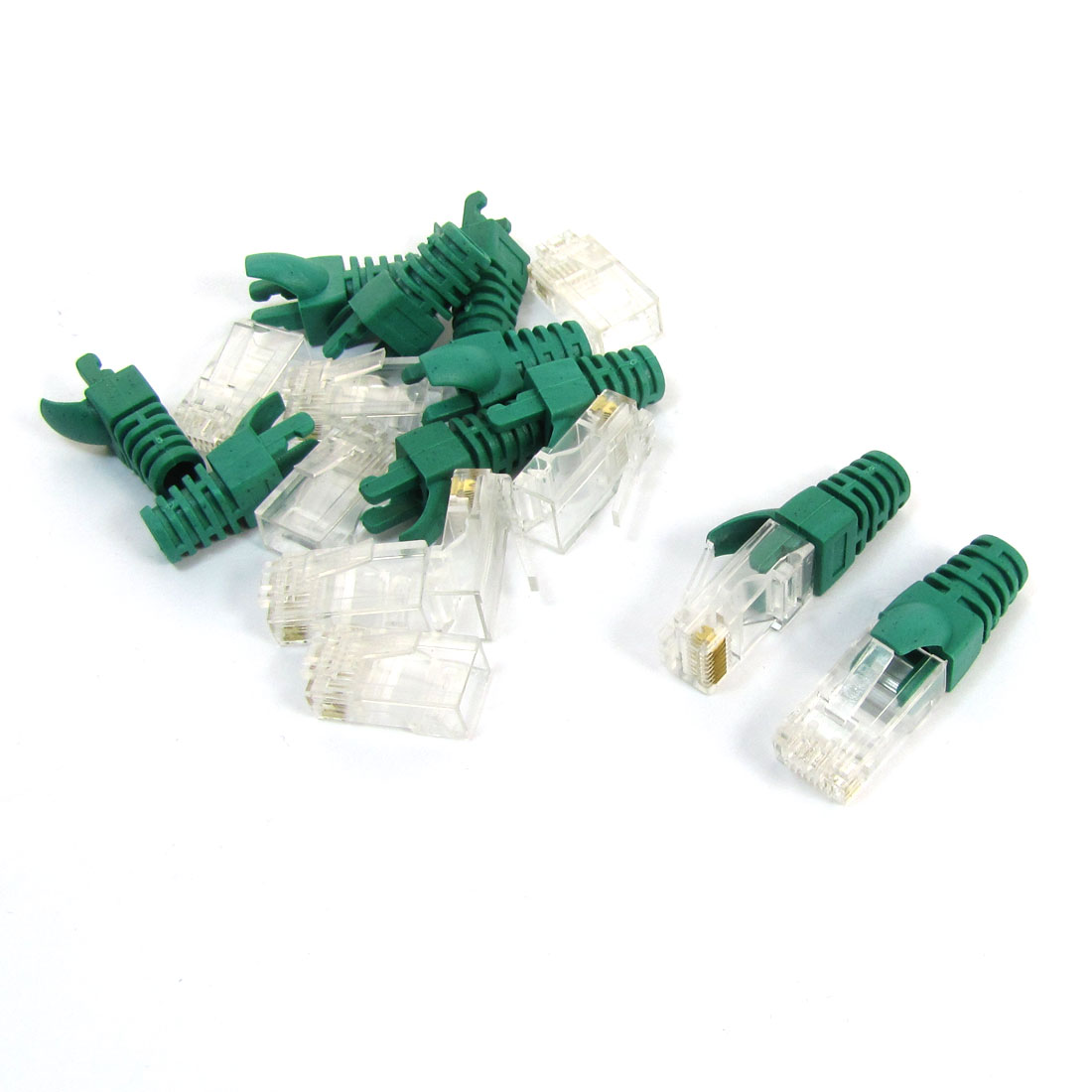 10Pcs Green 8P8C Cat6 Patch RJ45 Crystal Cover Modular Boot Cap