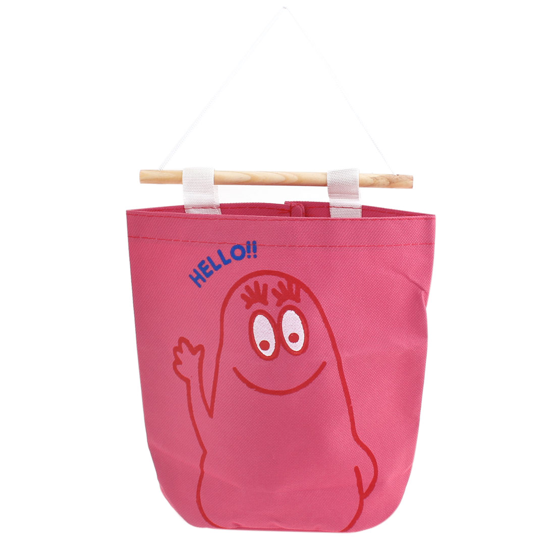 Washroom Toilet Fuchsia Nylon Tissue Pumping Paper Storage Bag w Crabstick