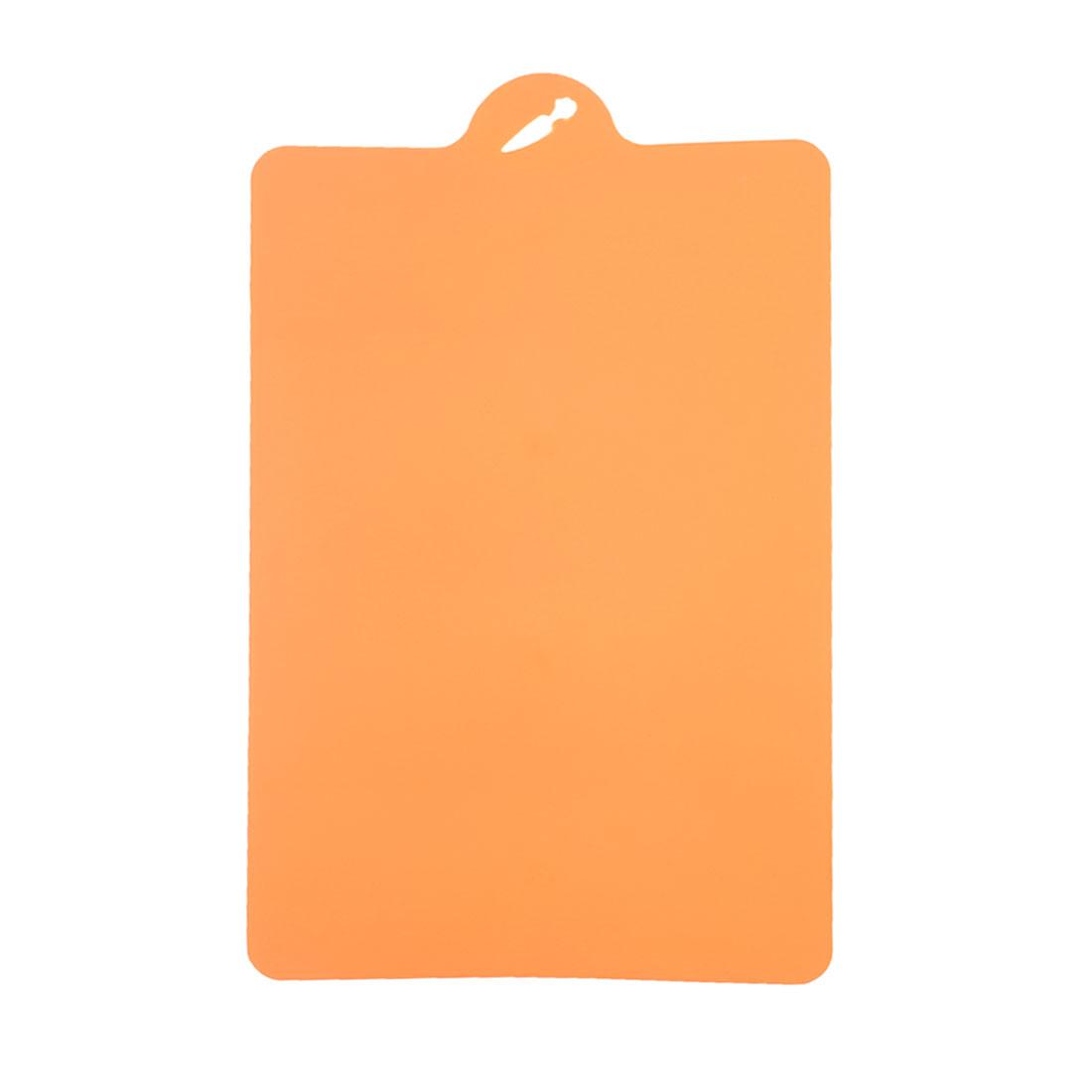 Orange Plastic Rectangle Shape Nonslip Chopping Board