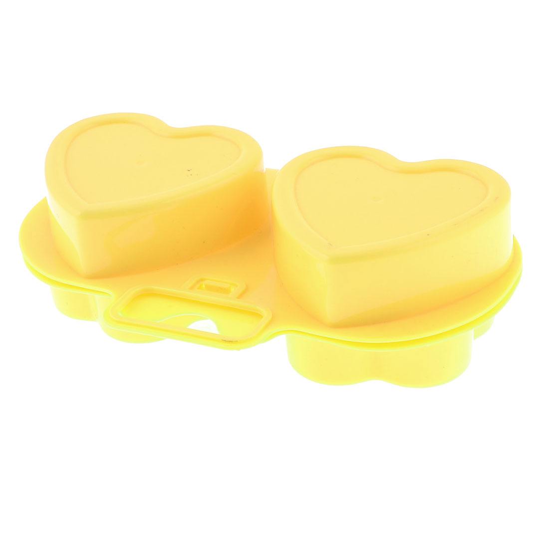 Yellow Plastic Flower Heart Shape Cordiform Microwave Egg Poacher