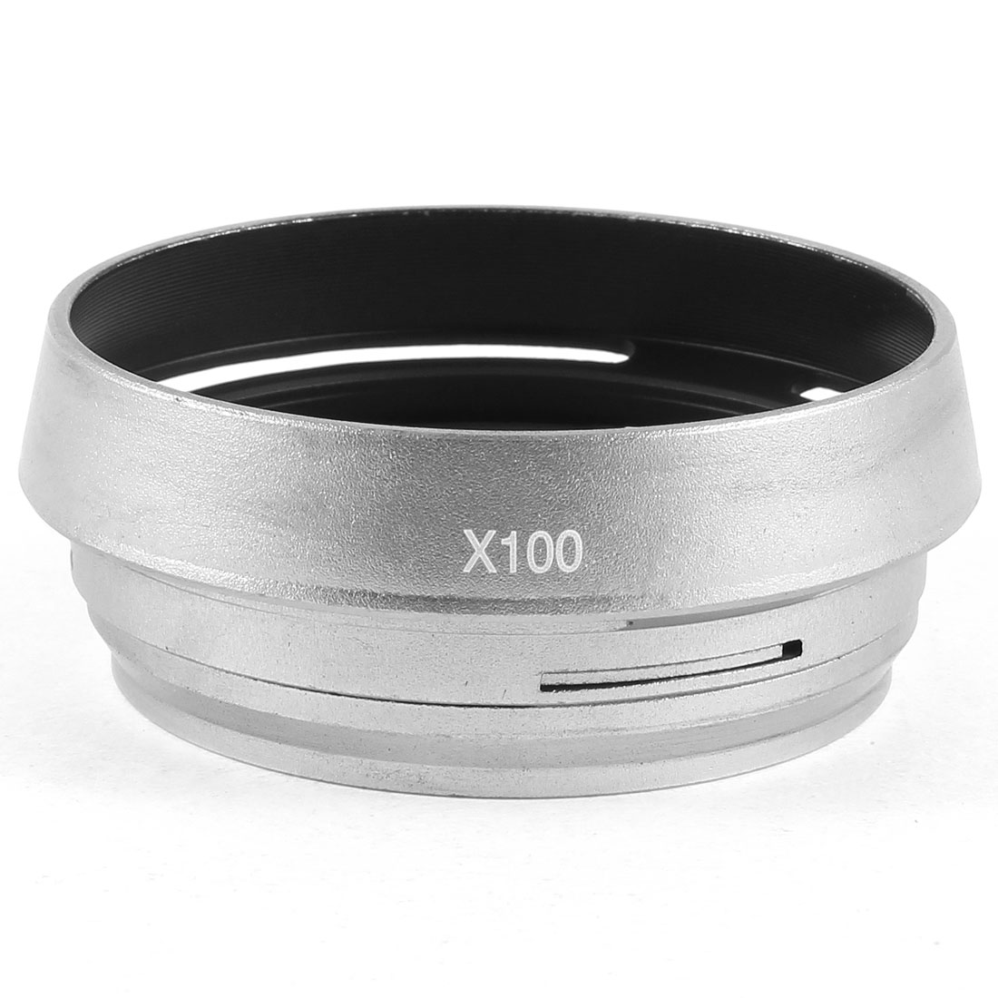 Aluminum Hollow Design 49mm Lens Hood Adapter Ring Silver Tone Gray