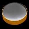 Gold Tone Plastic Frame Pocket 50mm Diameter Lens 4X Magnifier