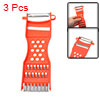 3 Pcs Orange Red Plastic Metal Scraper Fruit Grater Slicer Vegetable Peeler