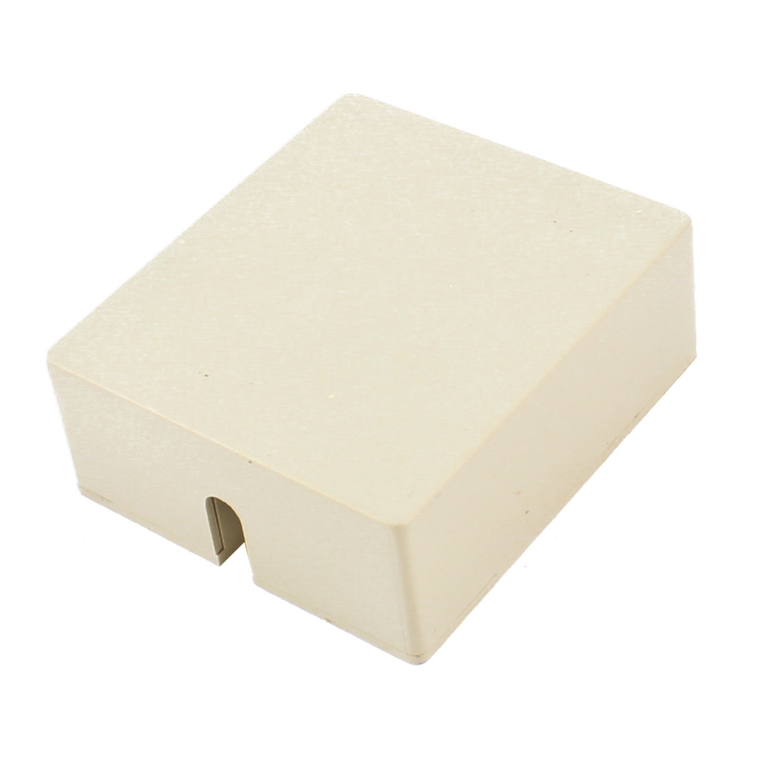 Female RJ11 Surface Mount Phone Jack Block Beige w Screw