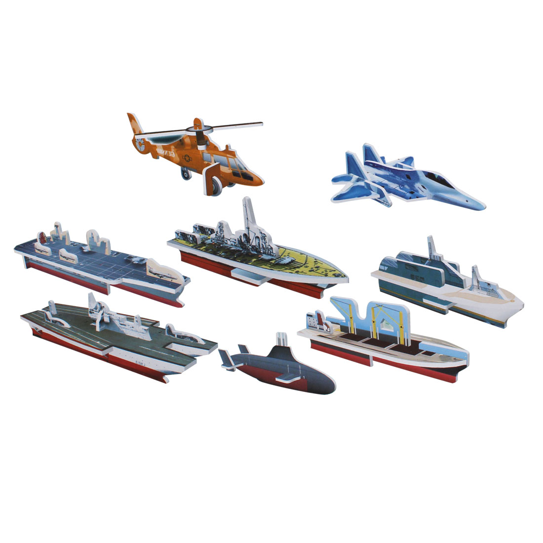 Multicolor 3D Foam Mini Military Style Assemble Toy Gift for Kids