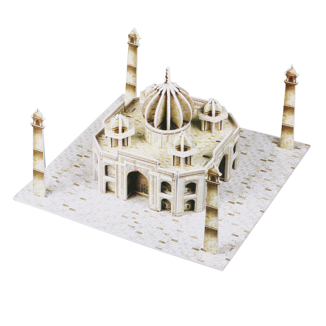 Child Kids Paper Coverd 3D Taj Mahal Assembly Model Puzzle Toy Gray