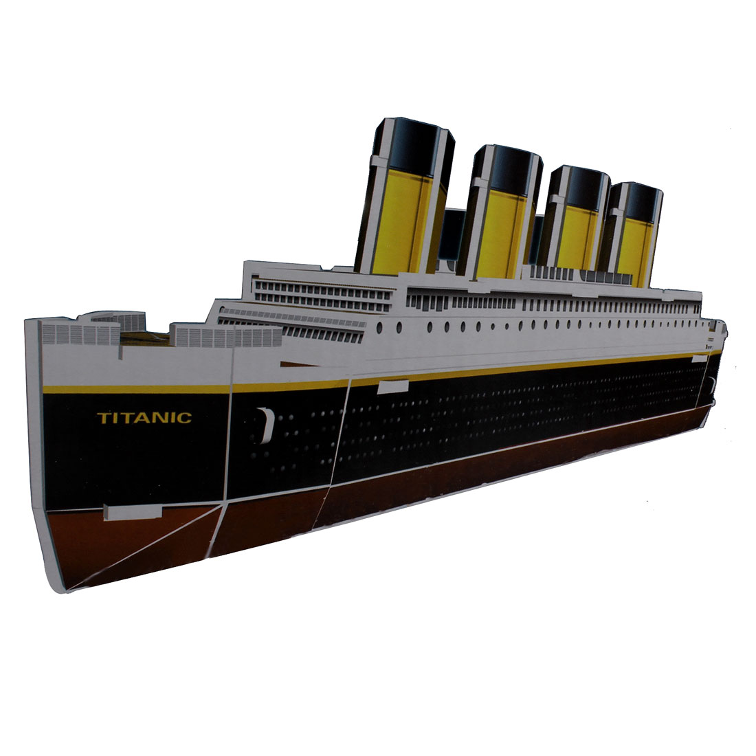Child 3D Foam Mini Titanic Model Assembling Puzzle Toy Black White