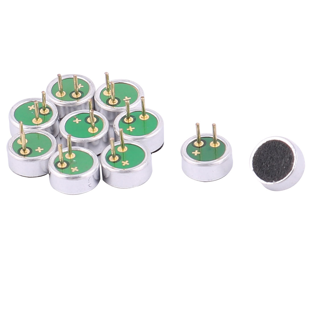 2 Terminal MIC Capsule Electret Condenser Microphone 6mm x 2.7mm 10 Pcs