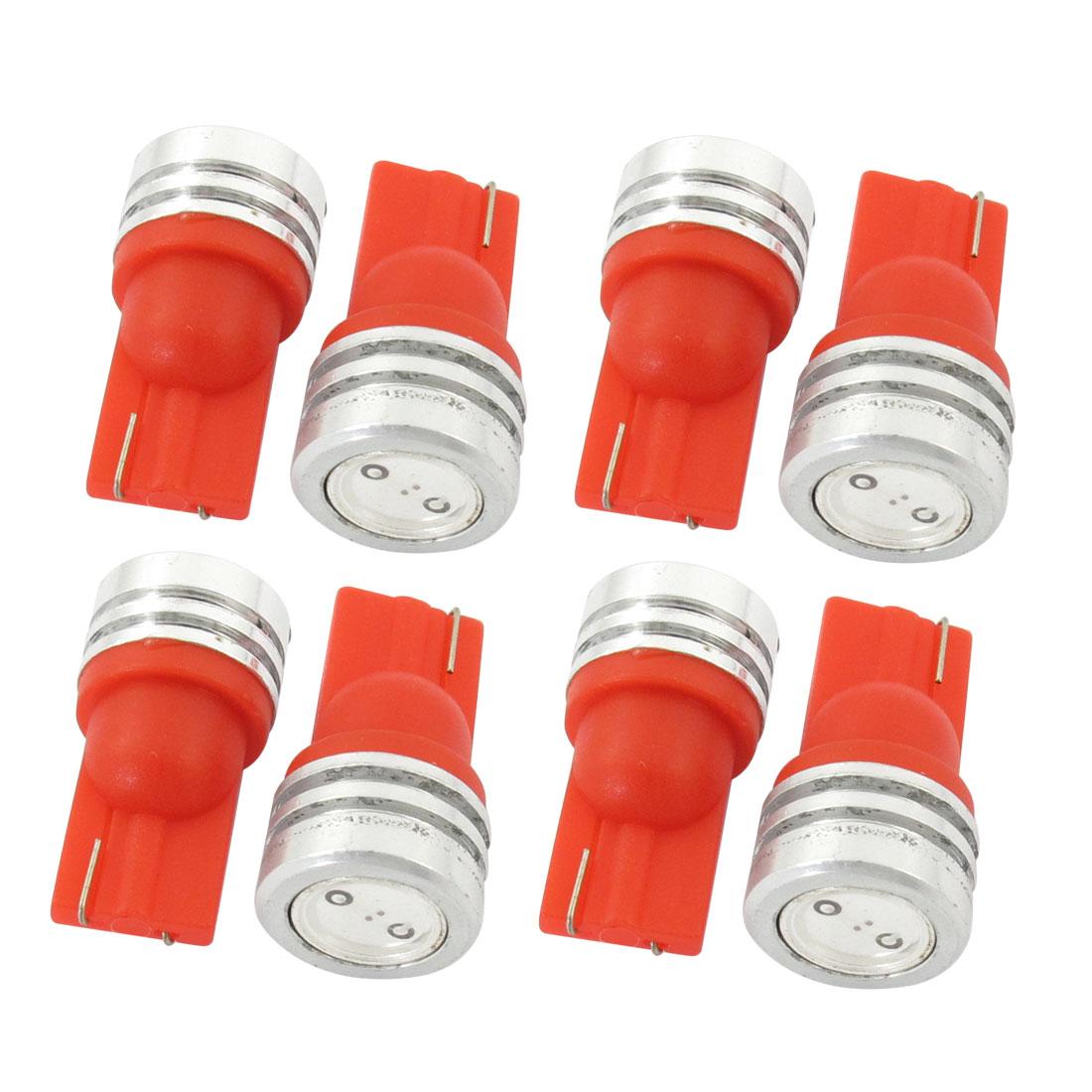 T10 2821 12V 1W Red LED Bulb Car Auto Dashboard Light Lamp 8 Pcs