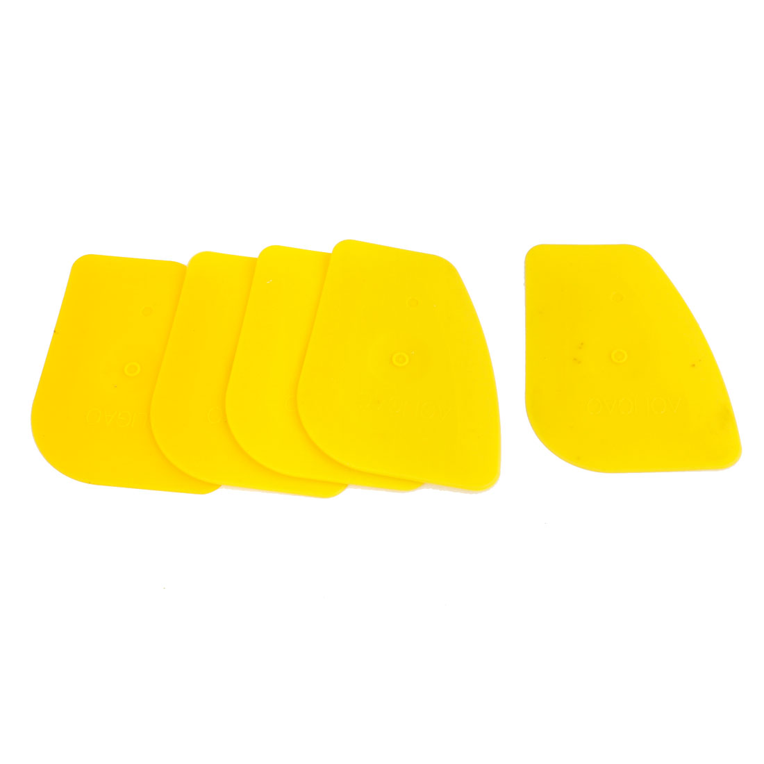 5 Pcs Yellow Plastic Window Scraper Blade Cleaner for Car Auto
