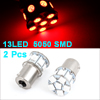 2 Pcs 1156 BA15S 13 5050 SMD LED Car Front Turn Signal Lamp Red