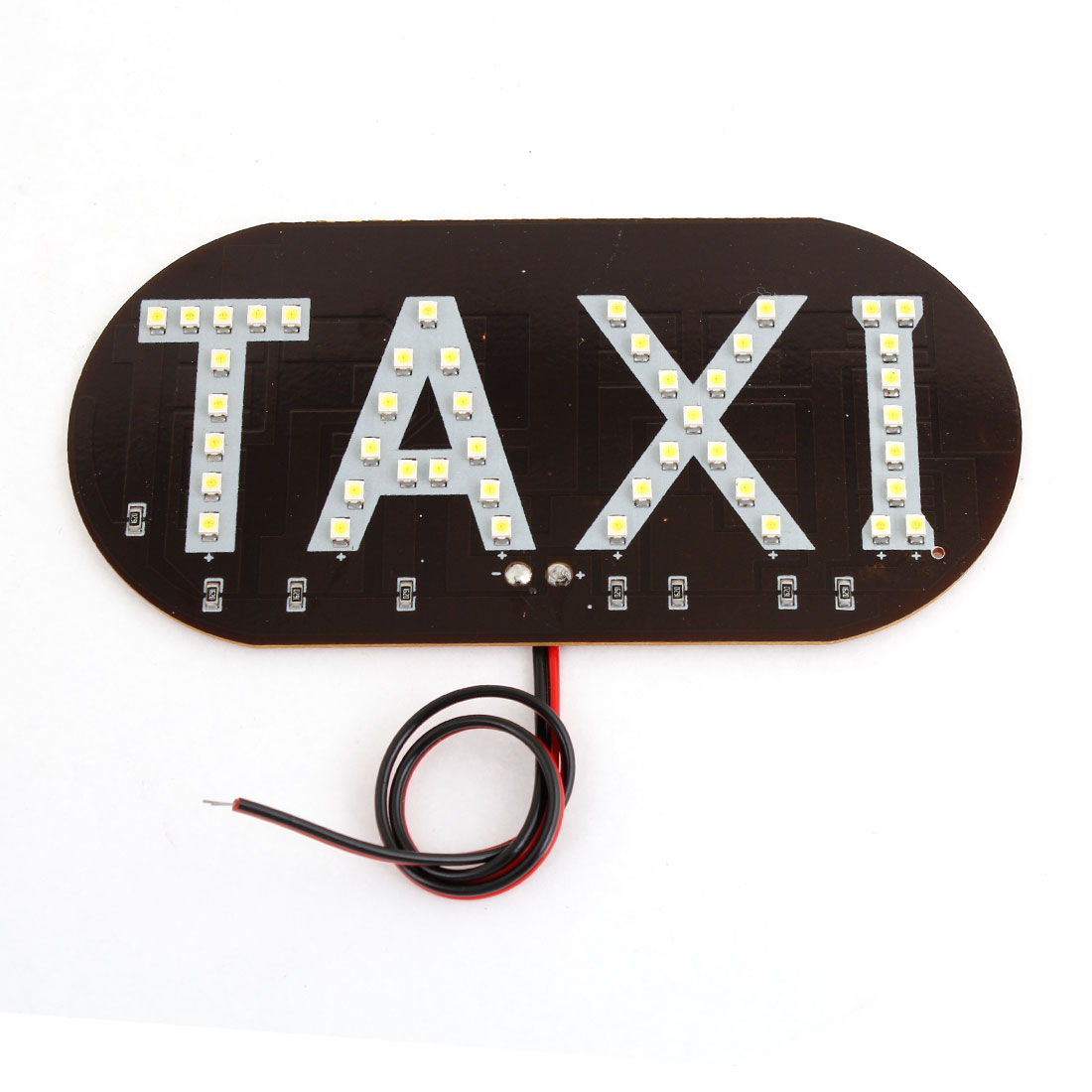 Car Windscreen Cab Sign White 5050 SMD 45 LED Taxi Light Lamp DC 12V