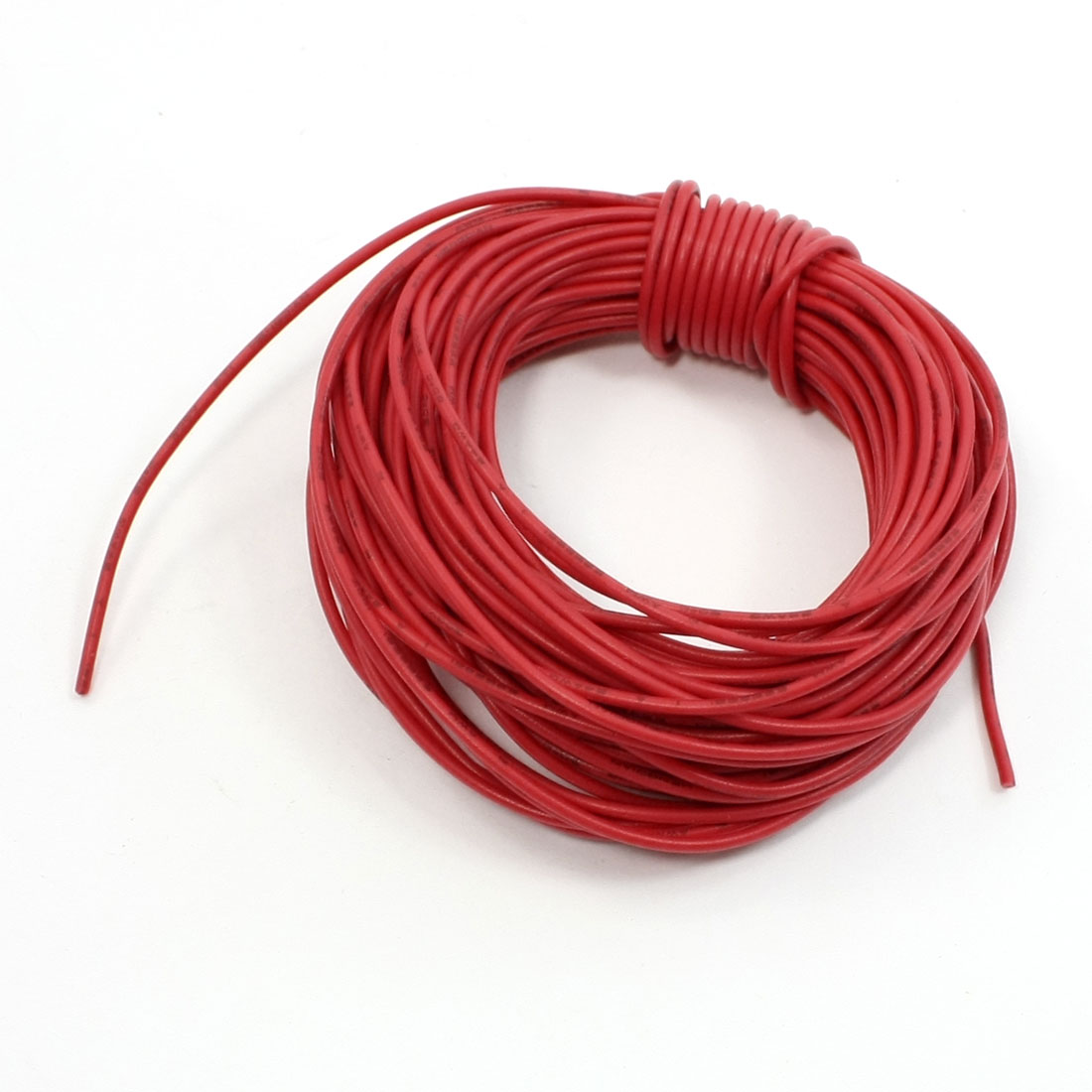 10M 32.8Ft 24 Gauge Red PVC Coated Aluminum Core Power Connector Wire