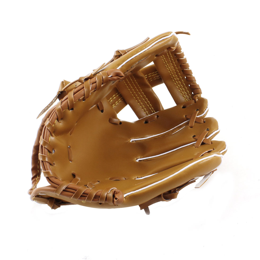 Adult Fielder Players Faux Leather Baseball Softball Glove Brown 9.5""