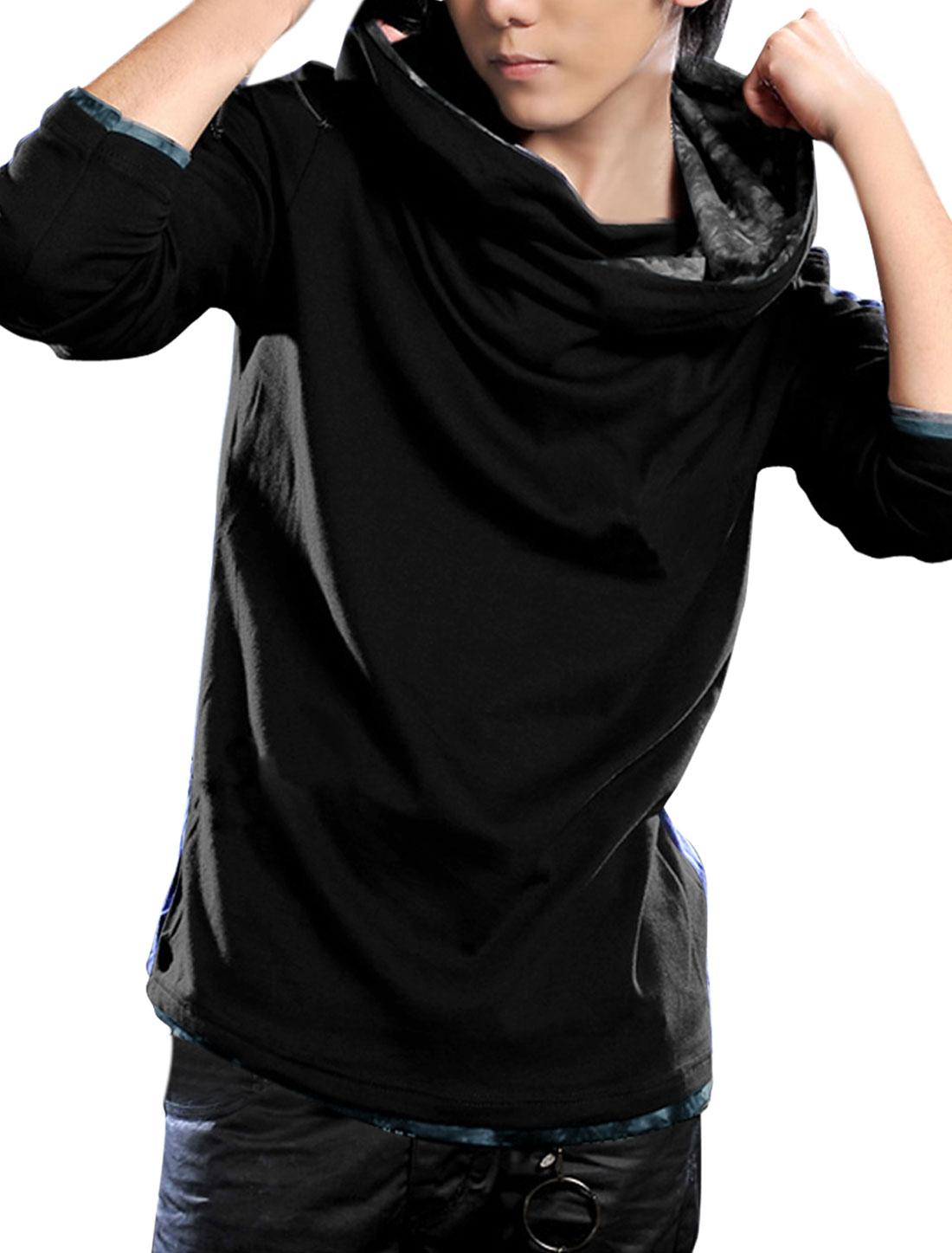 Men Hooded Pullover Stylish Hoodies Black M