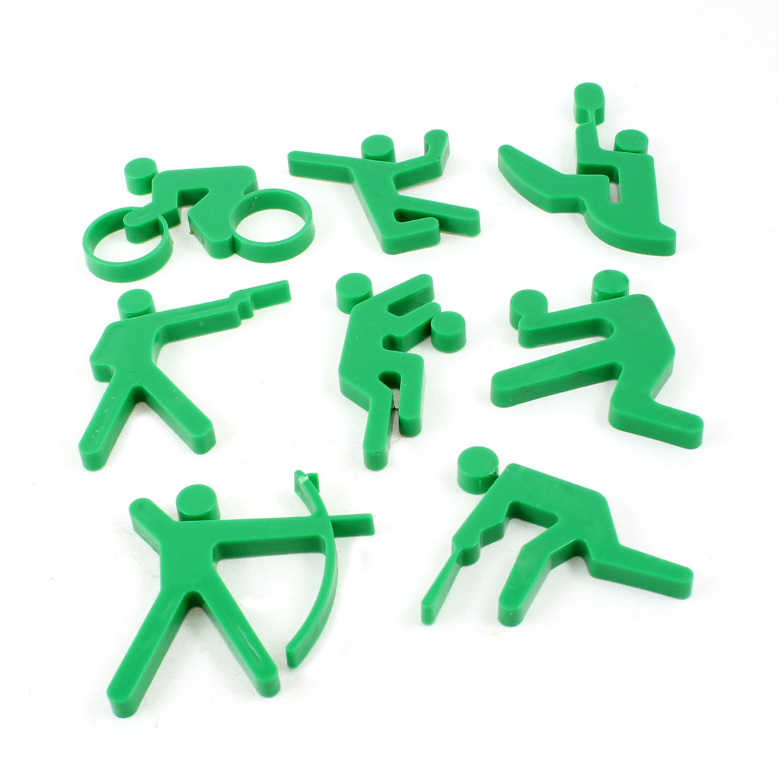 8 in 1 Whiteboard Sport Sign Plastic Fridge Magnet Stickers Green