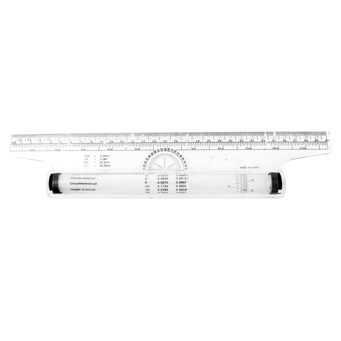 Drawing Tool Squares Angles Parallel Line Rolling Ruler Clear White