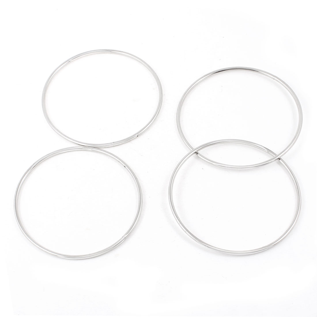 Comedians Magic Trick 4 Four Connected Linking Metal Rings Sets