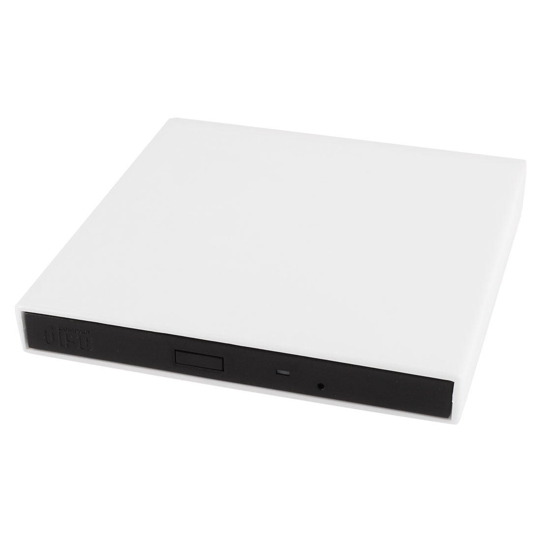 White Super Slim USB 2.0 24x External CD CD-ROM Disc Drive for Desktop Laptop