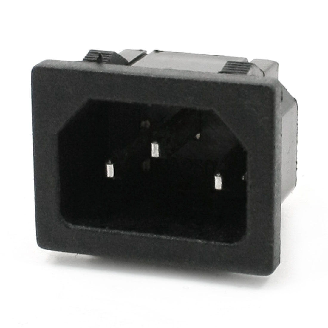 Male 3Terminals Panel Mount C14 Power Plug Adapter Connector AC 250V 10A