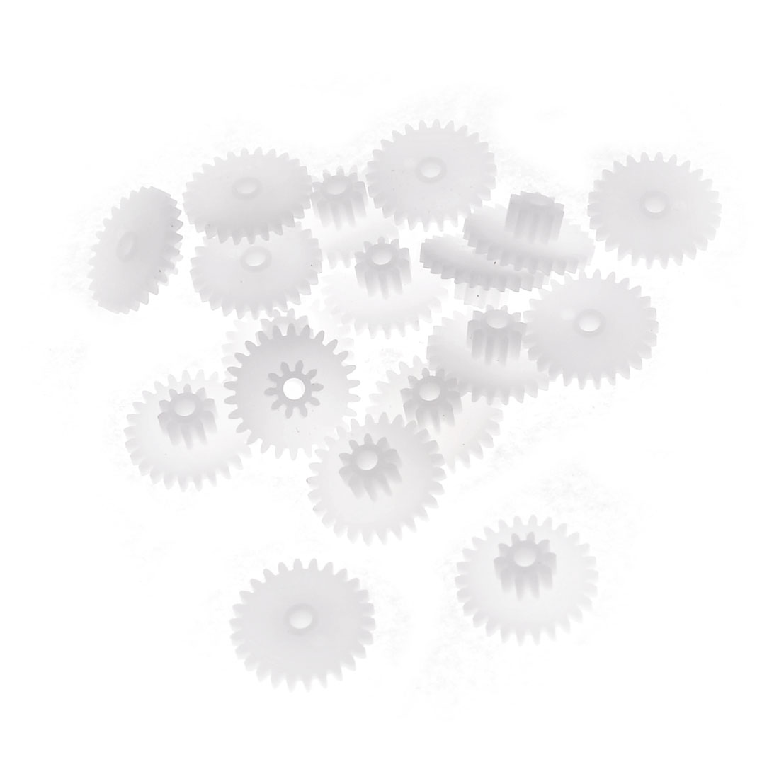 20 Pcs White Plastic Electrical Machanical Model Gear 14 x 1.5mm