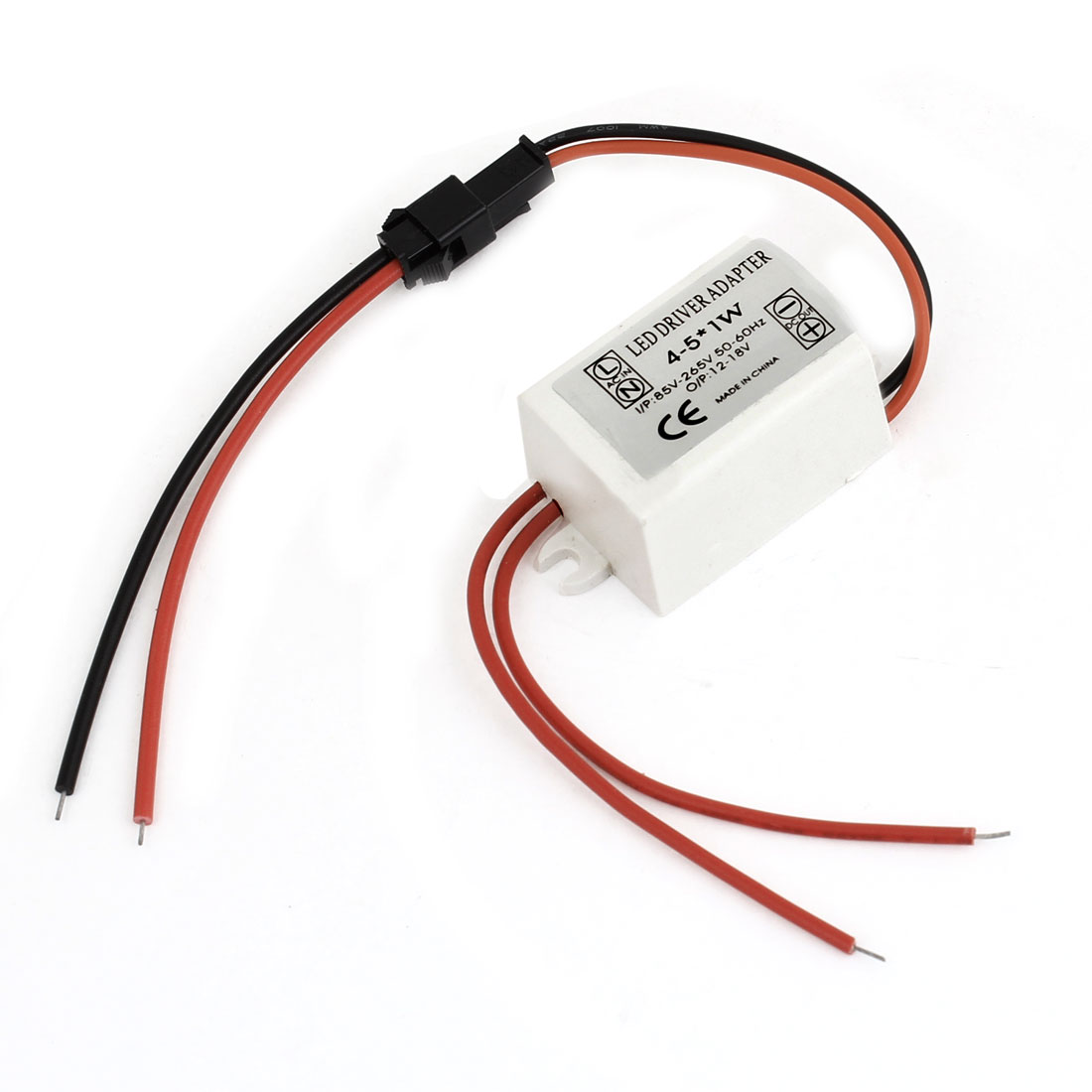 AC85-265V Driver Power Supply Adapter White for 4-5 1W LED Flexible Strip Light
