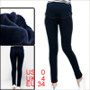 Matherhood Hip Pockets Design Elastic Cropped Leggings Navy Blue XS