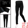 Motherhood's Adjustable Waist Fashion Warm Solid Black Leggings XS