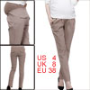 Pregnant Woman Light Coffee Color Regular Fit Casual Long Pants S