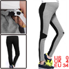 Pregnant Women's Adjustable Waist Gray Black Soft Leggings XS