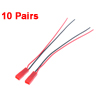 10 Pairs Male Female 14cm Length 2 Terminal Jumper Wires for PCB Boards