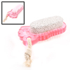 Plastic Handheld Foot Design Double Side Remover File Clear Pink
