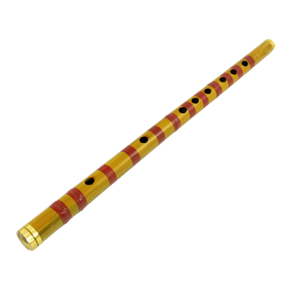 Metal Coated Ends Brown Alto F Dizi 10 Holes Music Chinese Bamboo Flute