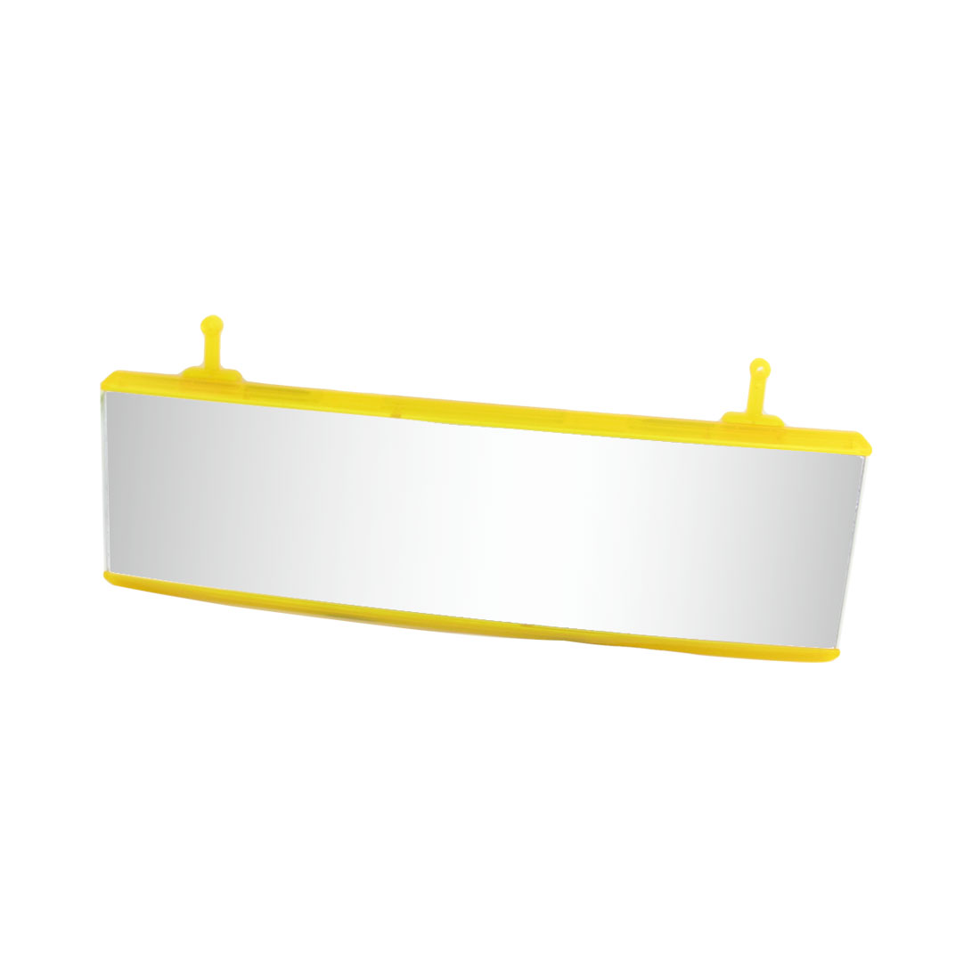 JDM 250mm Wide Curved Interior Clip On Rear View Mirror Universal Yellow for Car